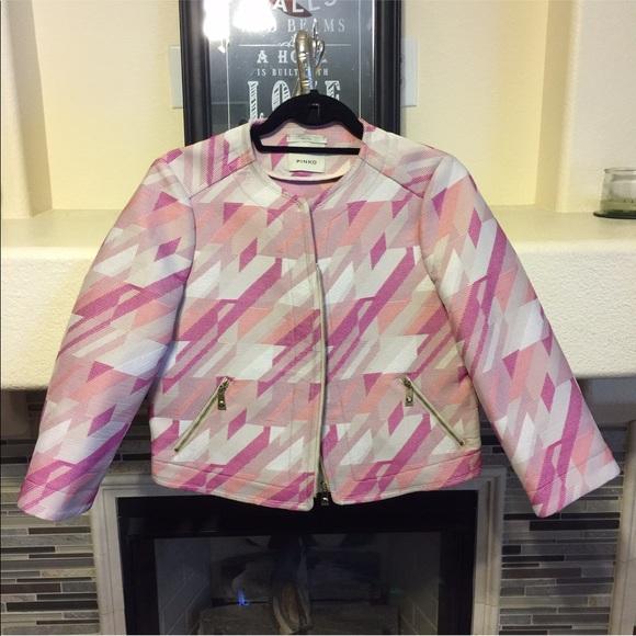 753a5a39f8 Pinko Jackets & Coats | Euc Jacquard Jacket | Poshmark